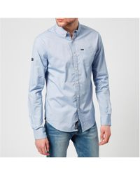 Superdry - Ultimate Pinpoint Oxford Button Down Long Sleeve Shirt - Lyst