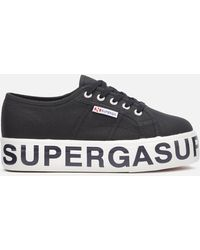 Superga 2790 Cotw Outsole Lettering Trainers - Black