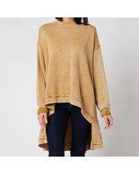 Free People Iggy Pullover Sweatshirt - Metallic