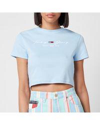 Tommy Hilfiger Tjw Rib Babydoll T-shirt - Blue