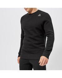Reebok - Crew Neck Fleece Sweatshirt - Lyst