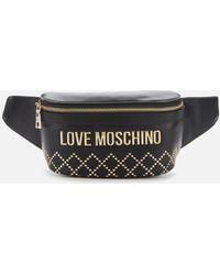 Love Moschino Quilt Stud Detail Waist Bag - Multicolour