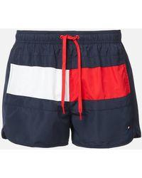 Tommy Hilfiger Runner Swim Shorts - Blue