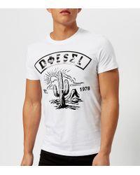 DIESEL - Diego Sm Printed T-shirt - Lyst