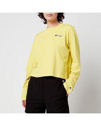 Champion Long Sleeve T-shirt - Yellow