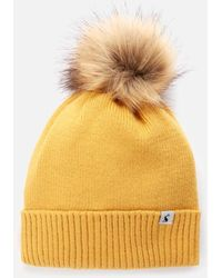 Joules Snowday Pom Hat - Yellow