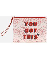 Radley Motivational Small Ziptop Wristlet - Red