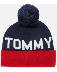 Tommy Hilfiger Seasonal Lurex Beanie - Blue
