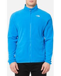 The North Face 100 Glacier Full Zip Fleece Sweater - Blue