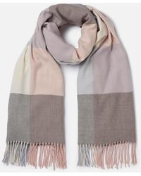 Barbour - Pastel Check Scarf - Lyst