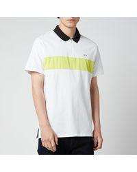 Armani Exchange Neon Stripe Polo Shirt - White
