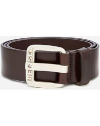 DIESEL B-star Leather Belt - Brown