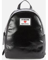 Love Moschino Heart Logo Backpack - Black