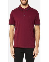 Michael Kors - Greenwich Logo Jacquard Short Sleeve Polo Shirt - Lyst