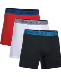 Under Armour - 3 Pack Charged Cotton 6 Inch Boxerjock - Lyst