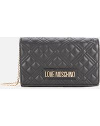 Love Moschino Quilted Chain Cross Body Bag - Gray
