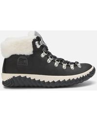 Sorel Out 'n About Plus Conquest Waterproof Suede Boots - Black
