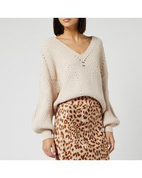 Free People All Day Long V Neck Jumper - Multicolour
