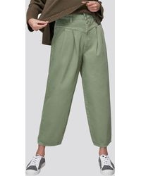 Whistles Organic India Pleat Detail Jeans - Green