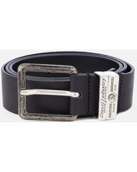 DIESEL Guarantee Leather Belt - Black