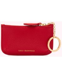 Lulu Guinness Cupids Bow Frankie Key Pouch - Red