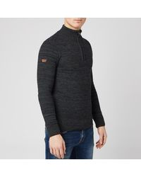 Superdry Keystone Henley Knit Sweater - Gray