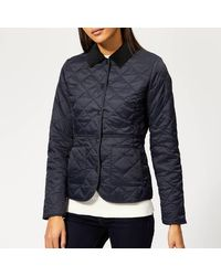 Barbour Deveron Quilted Coat - Blue