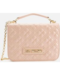 Love Moschino Quilted Medium Shoulder Bag - Pink