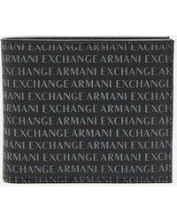 Armani Exchange All Over Print Bifold Wallet - Black