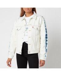 Levi's Ex Boyfriend Trucker Jacket - White