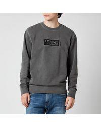 Tommy Hilfiger Tonal Corporation Logo Crewneck Sweatshirt - Black