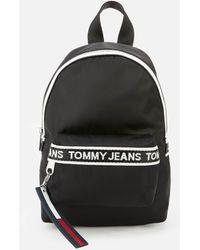 Tommy Hilfiger Mini Logo Tape Backpack - Black