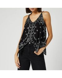 Free People Going Out In Austin Top - Black