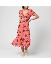 MICHAEL Michael Kors Petal Pf Midi Dress - Pink