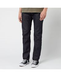 Edwin Ed-55 Rainbow Selvage Tapered Jeans - Blue