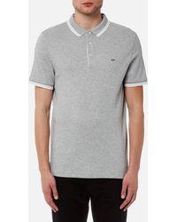 Michael Kors - Greenwich Logo Jacquard Short Sleeve Polo Shirt - Lyst