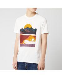Ted Baker Hotsun Printed T-shirt - White