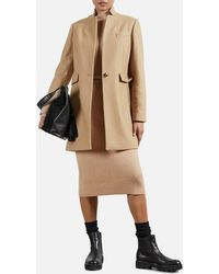 Ted Baker Bianza Straight Tailored Coat - Natural