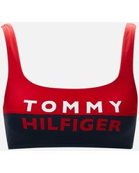 Tommy Hilfiger Bralette Bikini Top - Red