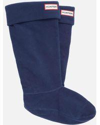 HUNTER - Unisex Tall Fleece Welly Socks - Lyst