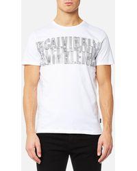 Calvin Klein - Japet Chest Print T-shirt - Lyst