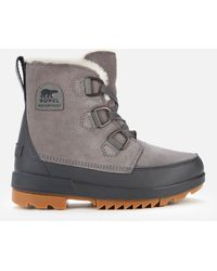 Sorel Torino Ii Waterproof Suede Shell Boots - Grey