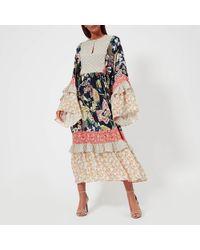 Perseverance London - Liberty Mix Print Belted Dress - Lyst