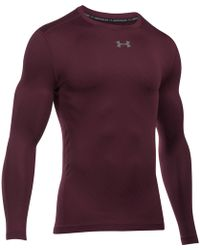 Under Armour - Striped Compression Long Sleeve Crew Top - Lyst