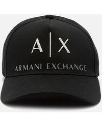 Armani Exchange Corporate Ax Logo Cap - Black