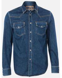 DIESEL East Denim Shirt - Blue