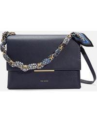 Ted Baker Evangli Scarf Chain Bar Detail Shoulder Bag - Blue