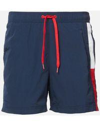 Tommy Hilfiger Side Flag Swim Shorts - Blue