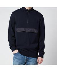 Barbour Cartfile Half Zip Sweatshirt - Blue