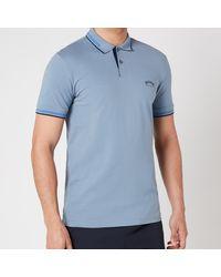 BOSS by HUGO BOSS Boss Athleisure Paul Curved Logo Polo Shirt - Metallic